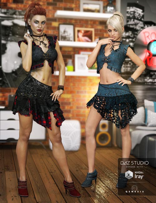 Rocker Outfit Textures