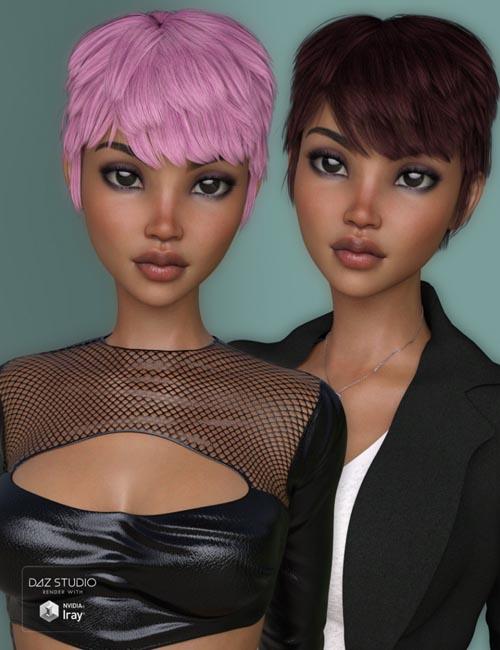Evi Hair for Genesis 3 Female(s)