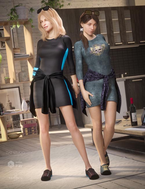 T-Shirt Dress Outfit Textures