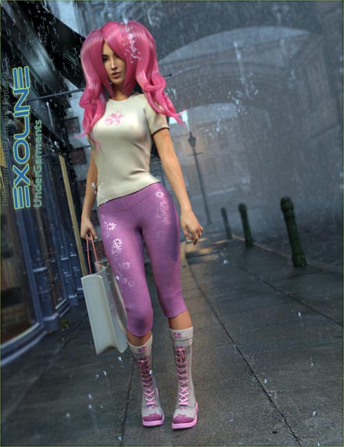 Exoline Undergarments for Genesis 8 Female(s)