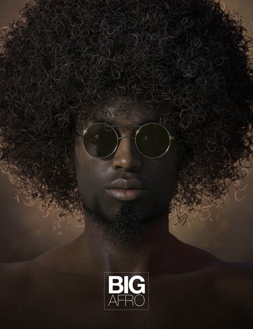 Big Afro Hair for Genesis and Genesis 2