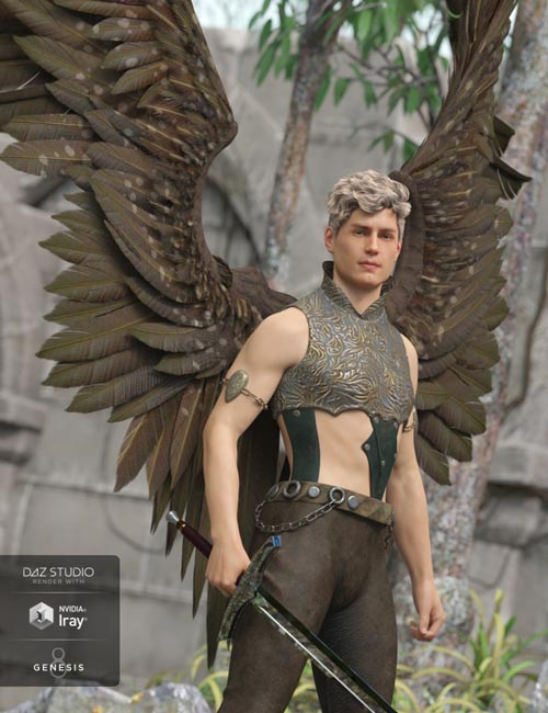 Morning Star Wings for Genesis 3 and Genesis 8 Male(s)