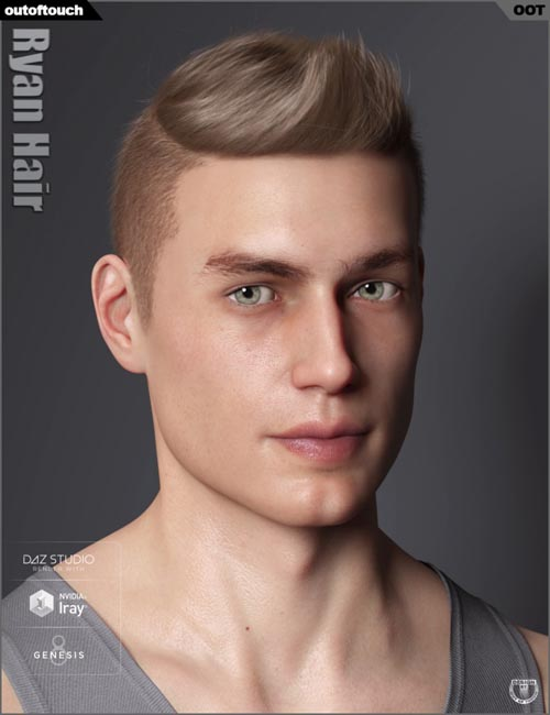Ryan Hair for Genesis 3 and 8