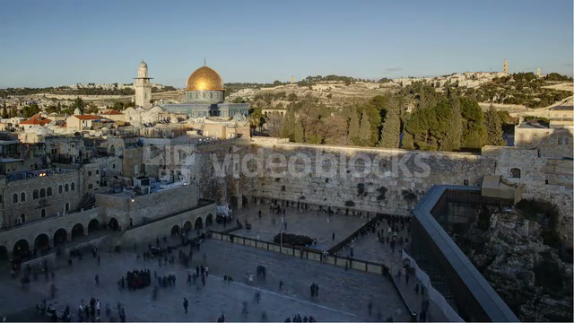 Dome of the Rock Temple Mount, Jerusalem, Israel, Middle East, Time lapse