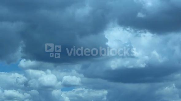 Time Lapse of Ominous Thunderhead Clouds Brewing