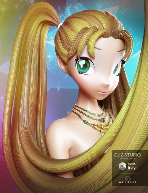Jazz Hair for Genesis 3 Female(s)