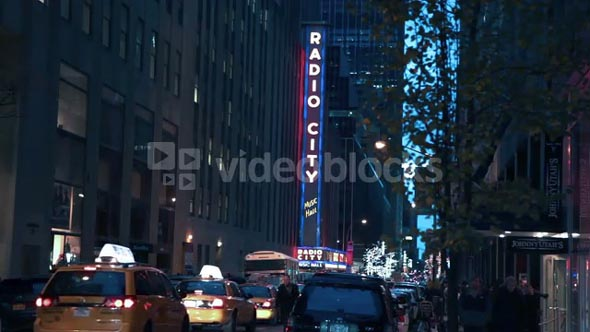 Radio City Music Hall and Traffic