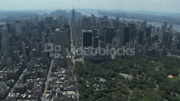 Central Park and NYC Aerial