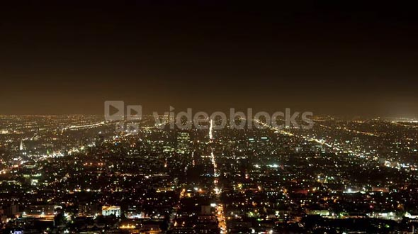LA City Grid Timelapse