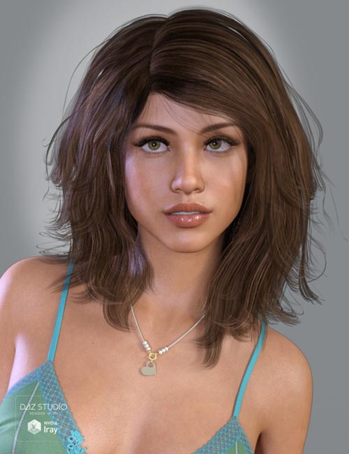Olive Hair for Genesis 3 and 8 Female(s)