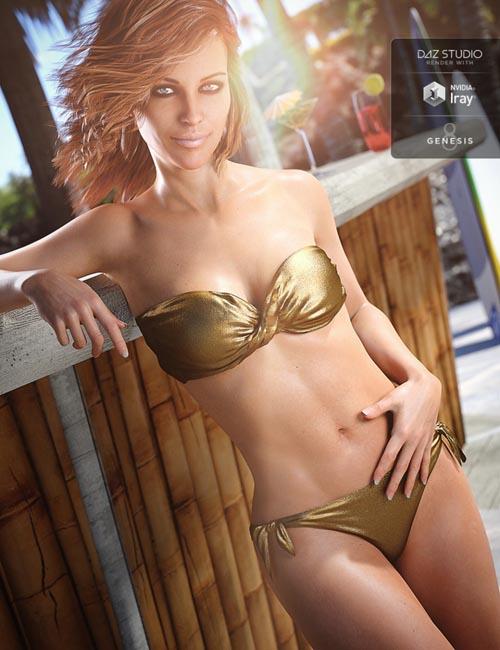Bandeau Twist Bikini for Genesis 8 Female(s)