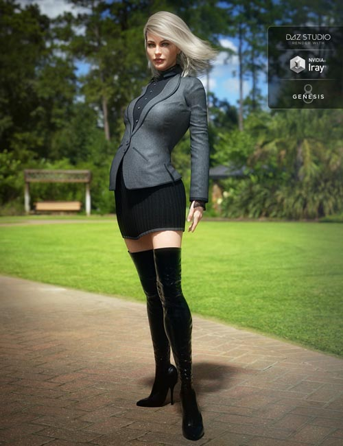 Boot Look Outfit for Genesis 3 and 8 Female(s)
