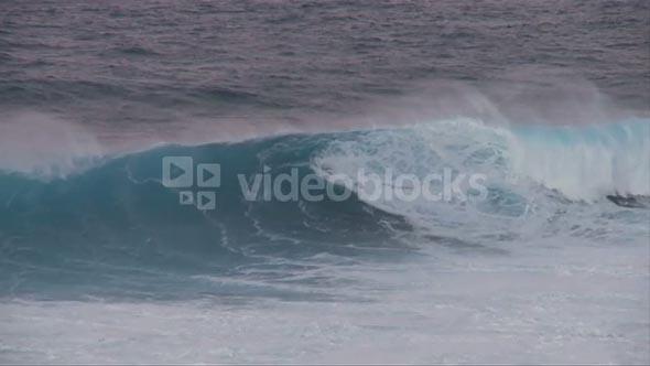 Slow Motion Wave Crash