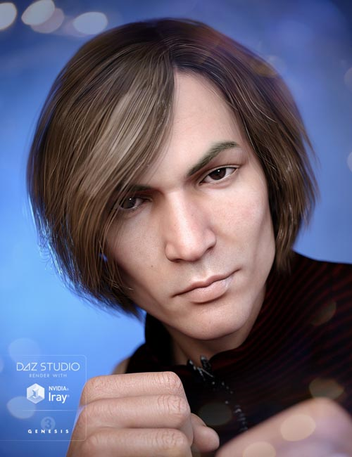 Aaron Hair for Genesis 3 Male(s)