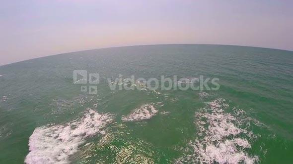 Aerial Shot Over Vast Ocean
