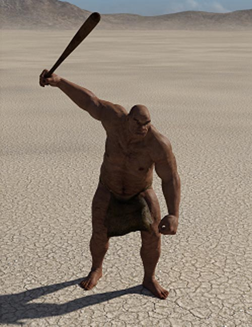 Caveman for Genesis 3 Male Poses