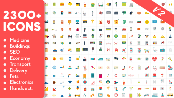 2300 Animated Icons Pack