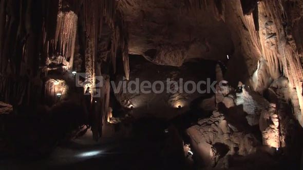 Beautiful Cave with Spots of Light