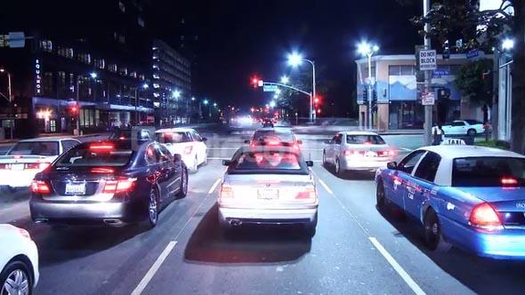 Night Speeding Highway Lights Timelapse
