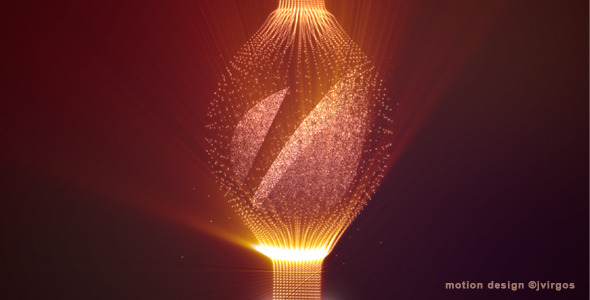 Shiny Logo With Elegant Fine Particles