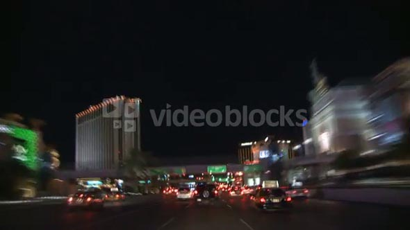Driving Through Vegas Timelapse