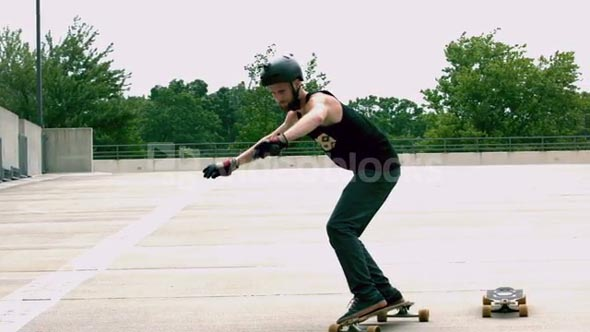 Slow Motion Jumping Longboards