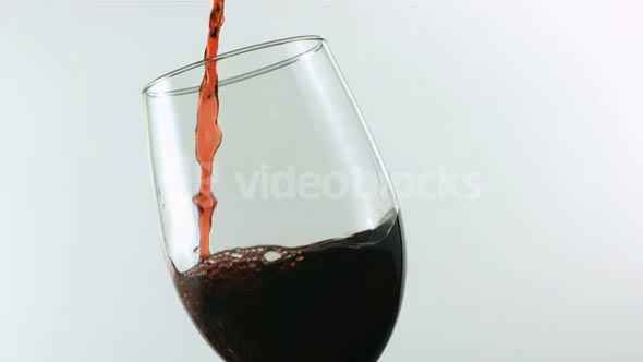 Slow Motion Pouring Glass of Red Wine 3