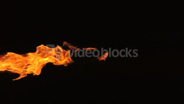 Slow Motion Wispy Flames