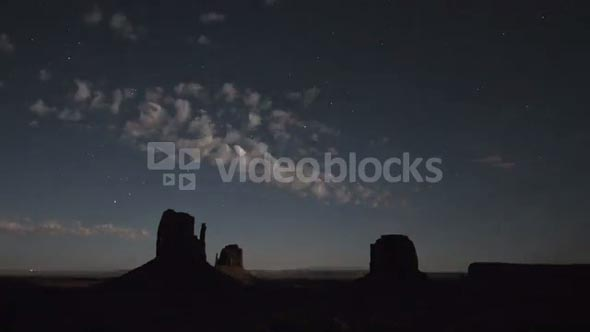 Monument Valley Night Timelapse