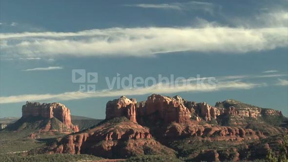 Beautiful Sky Over Beautiful Red Rock Mountains