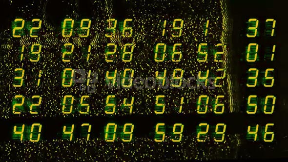 Glitch LED Numbers