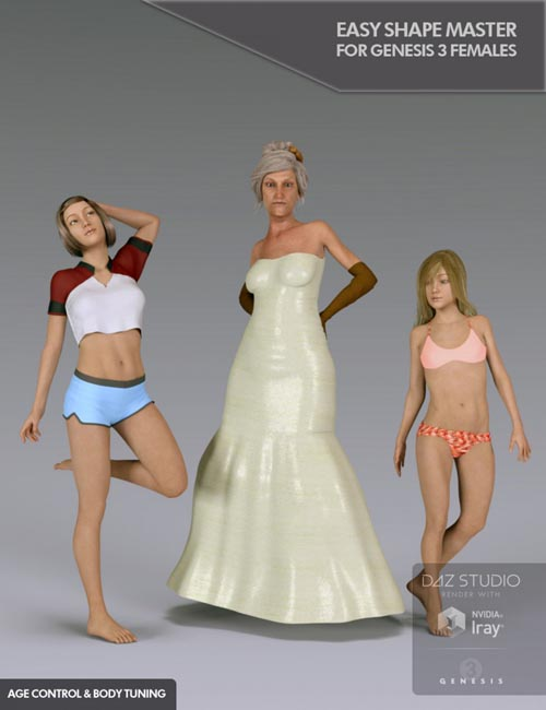 Easy Shape Master - Age Control and Body Tuning for Genesis 3 Female