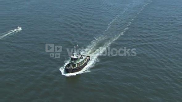 Ferry in Open Water