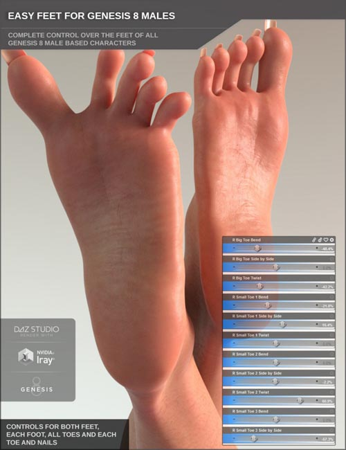 Easy Feet for Genesis 8 Male(s)