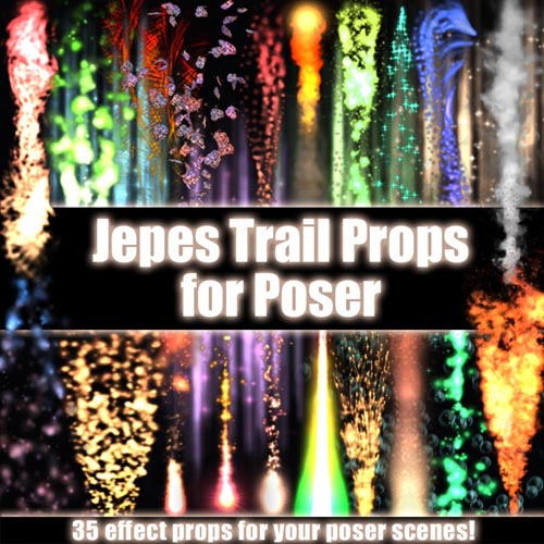 Jepes TrailProps For Poser