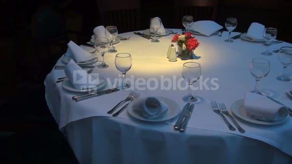 Large Empty Restaurant Table