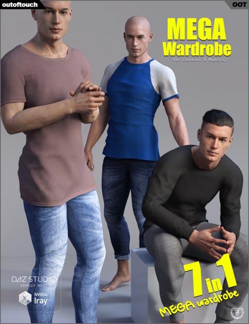 Genesis 8 Male MEGA Wardrobe » Daz3D and Poses stuffs