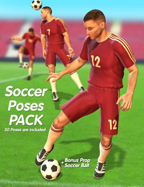 Soccer Poses Pack [ .DUF & Iray UPDATE ]
