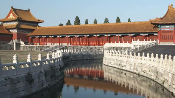 Shot of Stream in Forbidden City in China