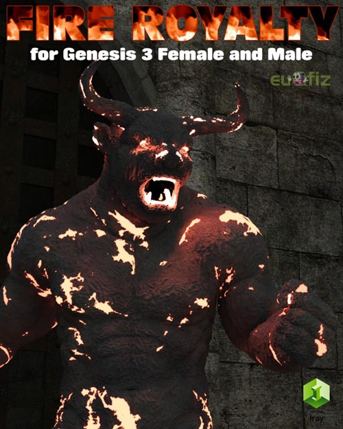 Iray Fire Royalty for Genesis 3 Female and Male