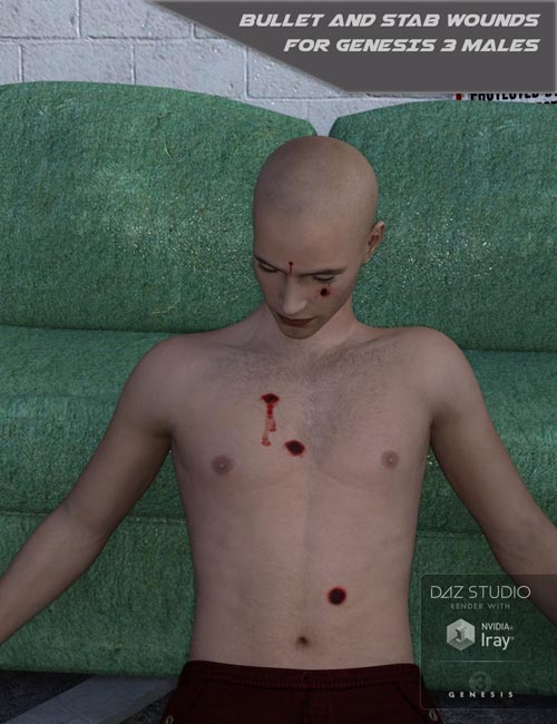 Bullet and Stab Wounds for Genesis 3 Males