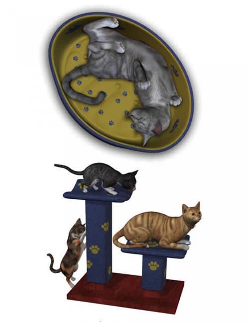 Millennium Cat Props [ .Duf & Iray UPDATE ]