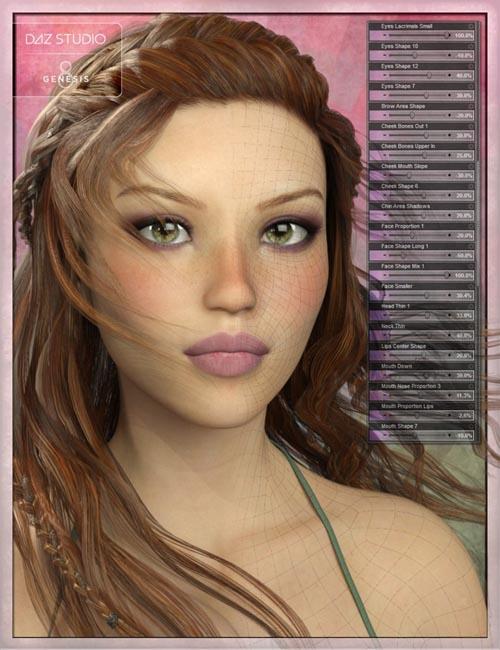 Genesis 8 Female Head Morph Resource Kit 2