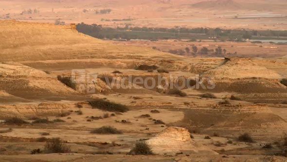 Pan Of Mountains And Hills In Desert