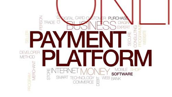 Payment platform animated word cloud, text design animation. Kinetic typography