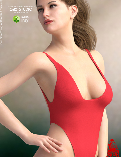 One Piece Thong for Genesis 8 Females