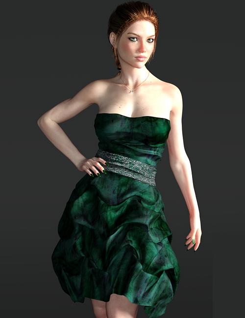 Twilight-Shimmer Cocktail Dress