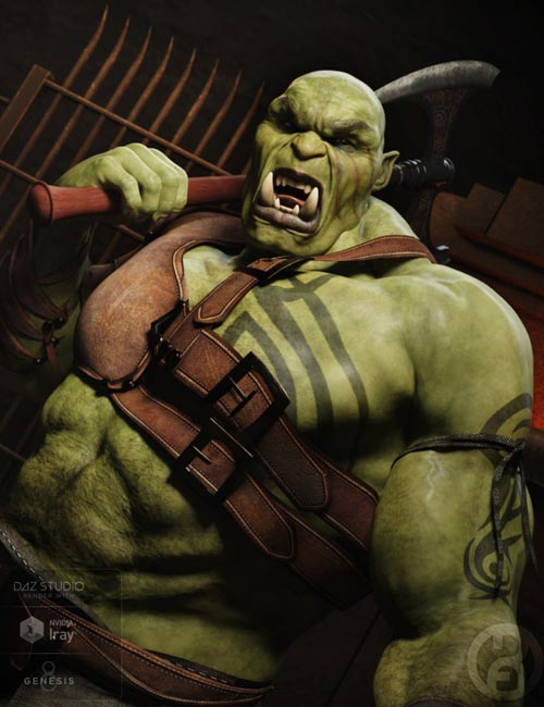 Orc Brute for Genesis 8 Male