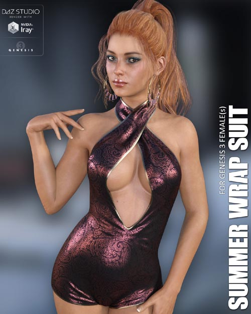 Summer Wrap Suit for Genesis 3 Females