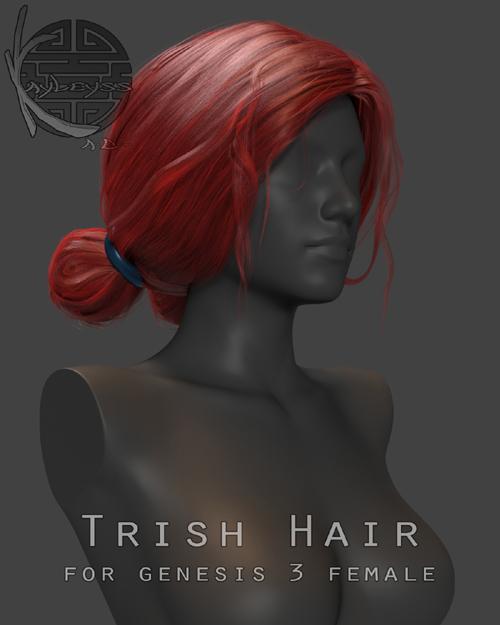 Trish Hair for Genesis 3 Female